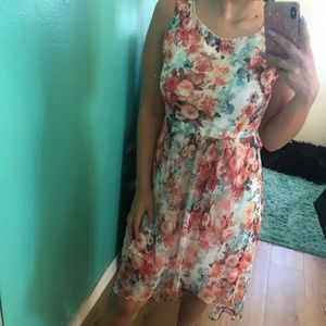 Floral F21 high/low dress